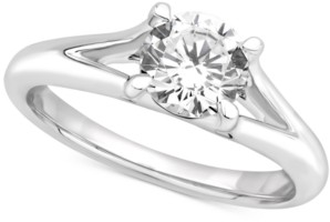 Gia Certified Diamonds Gia Certified Diamond Solitaire Engagement Ring (1 ct. t.w.) in 14k White Gold