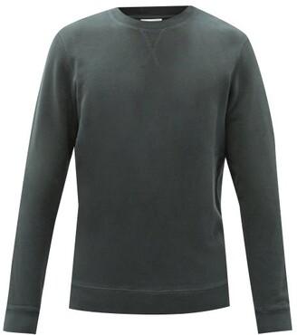 Sunspel Crew-neck Cotton-blend Loopback-jersey Sweatshirt - Dark Green