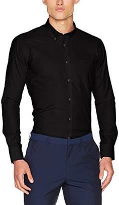 Kustom Kit Men's Oxford Work L/S Business Shirt, (Light Blue)