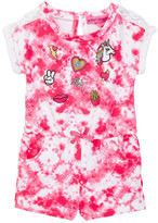 Betsey Johnson Tie Dye Embroidered Patch Romper (Toddler Girls)