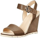 Nine West Women's Gronigen Leather Wedge Sandal