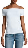 Helmut Lang Off-the-Shoulder Stretch Jersey Tee