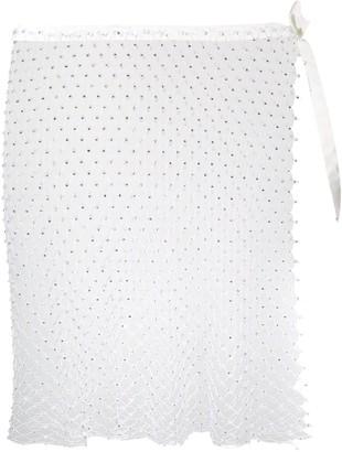 La Reveche Izar sheer mini skirt
