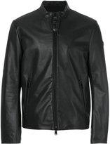 Armani Jeans leather zip jacket