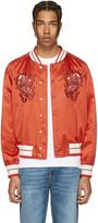 Alexander McQueen Red Skulls Souvenir Bomber Jacket