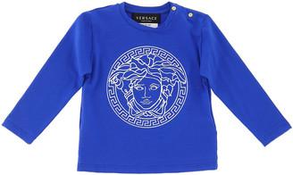 Versace Boy's Long-Sleeve Medusa Logo Jersey T-Shirt, Size 12-36 Months