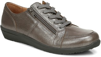 Vionic Lace-Up Sneaker with Zipper - Abigail Metallic