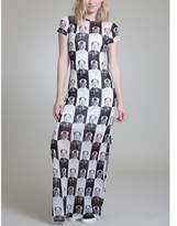 Vivienne Tam Checkerboard Mao Maxi Dress.