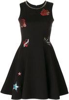 Philipp Plein branded patch dress