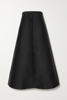 Totême Sabadell Strapless Duchesse-satin Midi Dress - Black