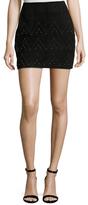 Sandro Jeply Suede Embellished Mini Skirt