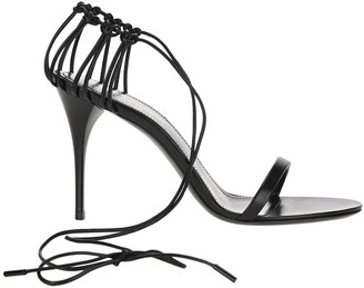 Saint Laurent Lexi Ankle Wrapped Sandals