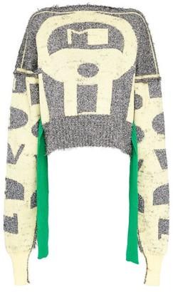 Matty Bovan - Tie-waist Metallic Deadstock-knitted Sweater - Womens - Silver Multi