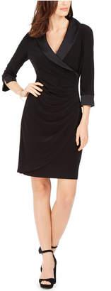 Jessica Howard Petite Tuxedo-Collar Sheath Dress