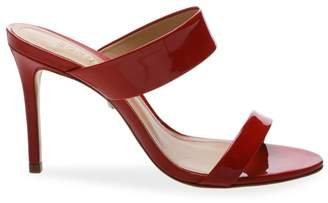Schutz Leia Patent Leather Backless High Heel Sandals
