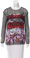 Clover Canyon Printed Guipure Lace Top w/ Tags