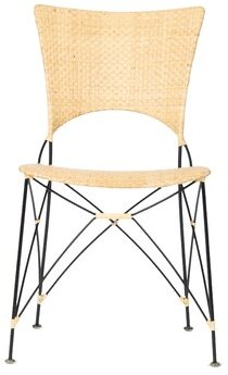 Bungalow Rose Birdwell Dining Chair Color: Natural