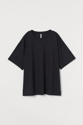 H&M H&M+ Wide-cut Cotton T-shirt