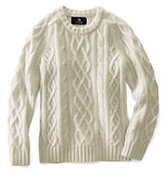 Classic Kids Cashmere Aran Cable Sweater-Jade
