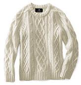Lands' End Kids Cashmere Aran Cable Sweater-Jade