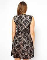 Asos Wrap Dress In Lace