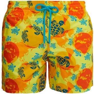 Vilebrequin X Te Mana O Te Moana Moorea Swim Shorts - Mens - Yellow Multi