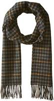 Hickey Freeman Men's Cashmere Windowpane Plaid Scarf