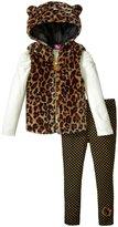 Hello Kitty Faux Fur Vest Set (Toddler/Kid) - Leopard - 6X