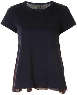 Sacai paisley-print contrast T-Shirt