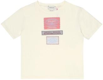 Gucci Kids Logo cotton-jersey T-shirt