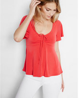 Express solid tie-front tee