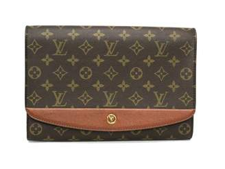 Louis Vuitton Bordeaux Brown Cloth Handbags