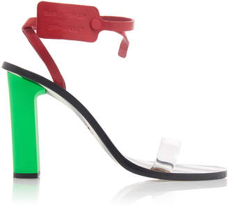 Off-White Capri Zip Tie-Embellished Leather Sandals S