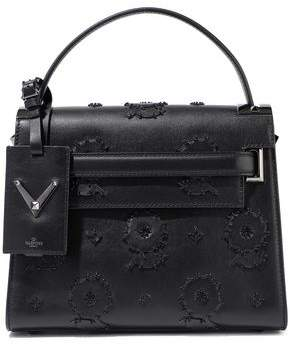 Valentino Garavani My Rockstud Bead-embellished Appliqued Leather Tote