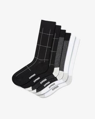 Express 3 Pack Windowpane Dress Socks