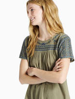 Lucky Brand Embroidered Shift Top