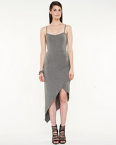 Le Château Jersey Asymmetrical Halter Dress