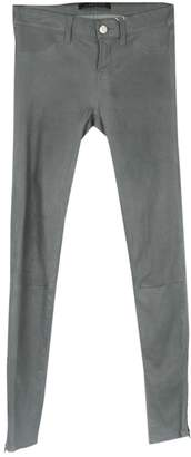 J Brand \N Grey Leather Trousers