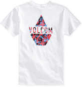 Volcom Men's Spilt Graphic-Print Logo Cotton T-Shirt