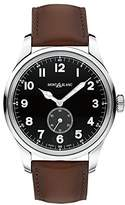 Montblanc Mont Blanc MEN'S 1858 47MM BROWN LEATHER BAND STEEL CASE AUTOMATIC WATCH 115073