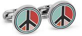 Paul Smith Peace Enamelled Silver-Tone Cufflinks