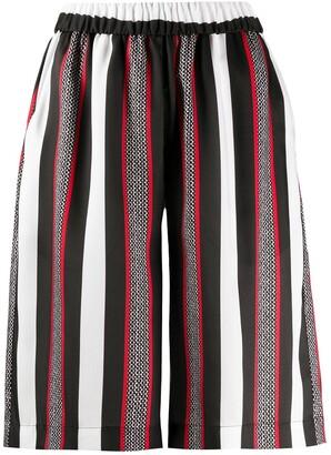 MSGM striped bermuda shorts