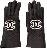 Chanel Shearling CC Gloves