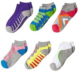 Jefferies Socks Tech Sport Low Cut 6-Pack (Toddler/Little Kid/Big Kid) (Multi) Girls Shoes
