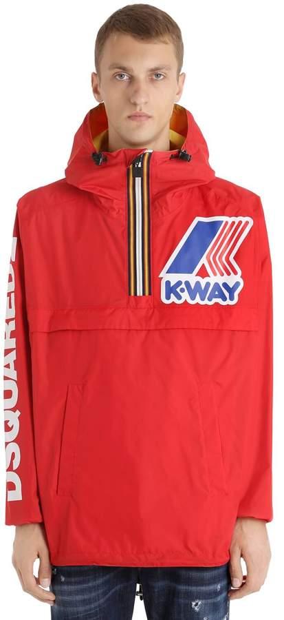DSQUARED2 K-Way Reversible Nylon Rain Jacket