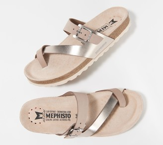 Mephisto Leather Toe Loop Sandals - Nalia
