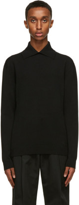 Valentino Black Knit Logo Polo