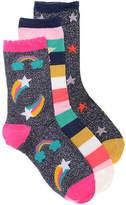 Olive & Edie Lurex Stars Infant, Toddler, & Youth Crew Socks - 3 Pack - Girl's