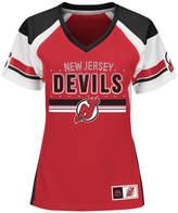 Majestic Women's New Jersey Devils Ready to Win Shimmer Jersey