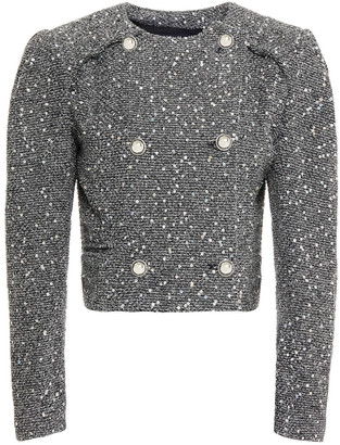 IRO Sorla Cropped Sequin-embellished Boucle-tweed Jacket